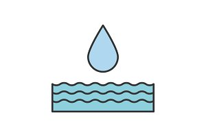 Water energy color icon