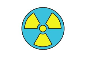 Nuclear energy color icon