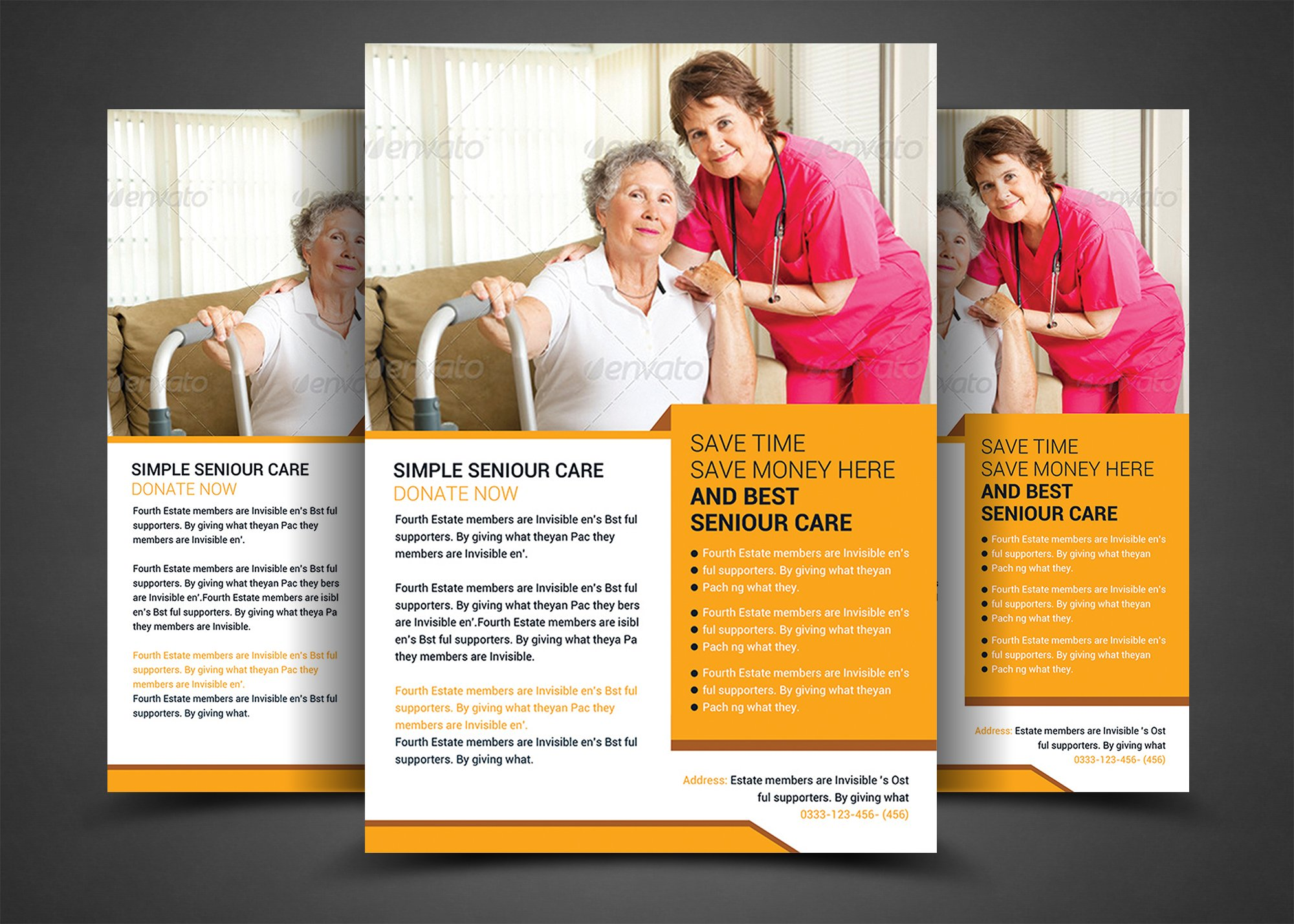 Elderly care flyer template flyer templates creative for Nurses week flyer templates