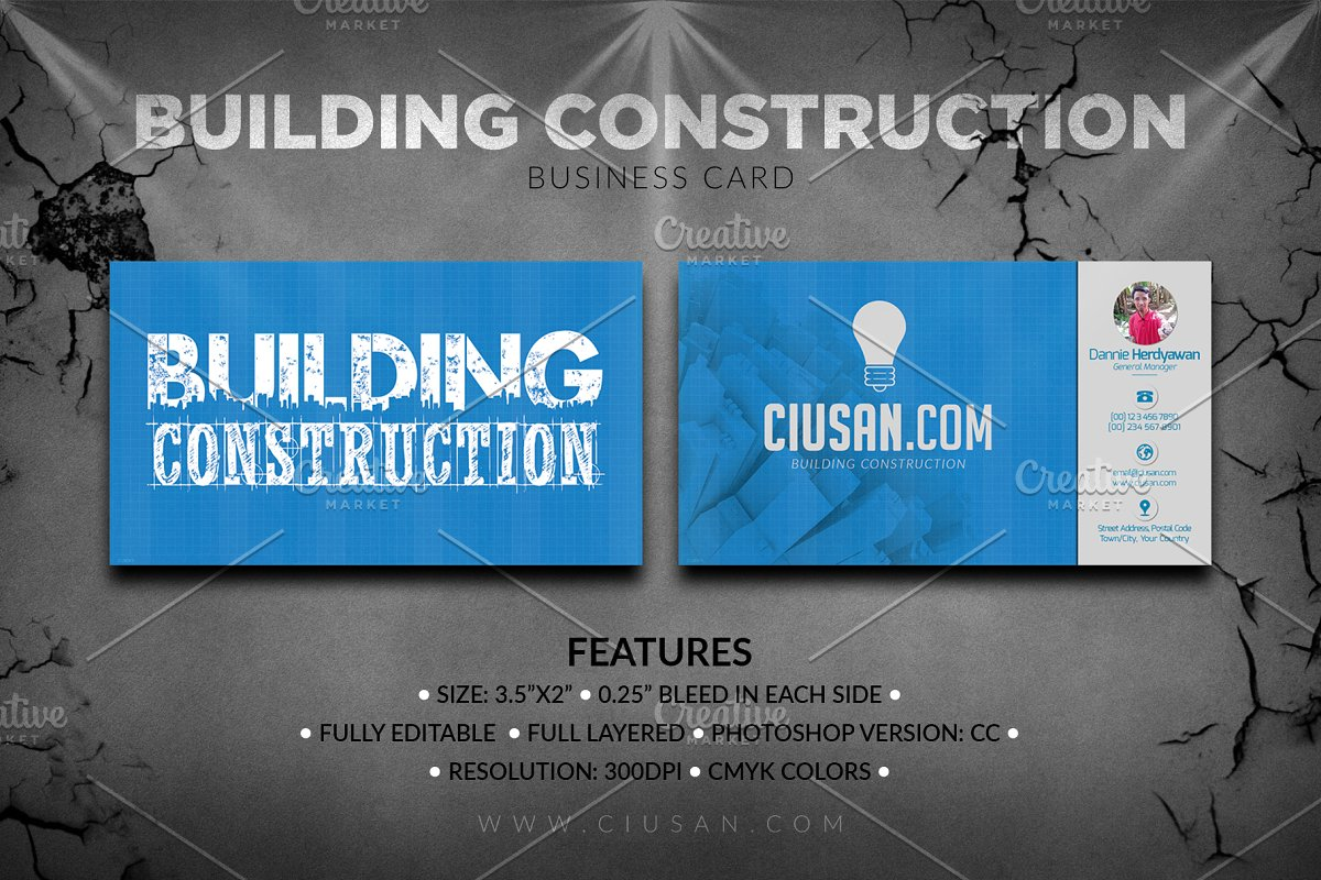 Building Construction Business Card Business Card