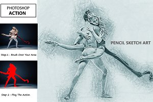 Pencil Sketch Art Photoshop Action