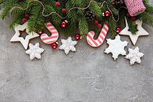 Christmas decoration with cookies