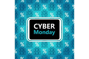 Cyber Monday sale banner in contrast