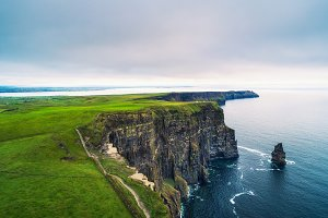 Aerial view of the scenic Cliffs of