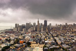 San Francisco skyline panorama from