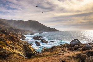 Pacific coastline scenery