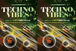 Techno Vibes Party Flyer