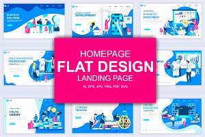 Flat Design Landing Page Templates