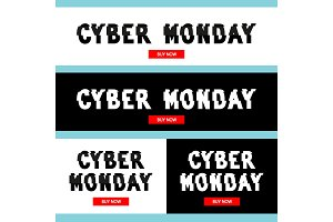 Cyber Monday inscription in