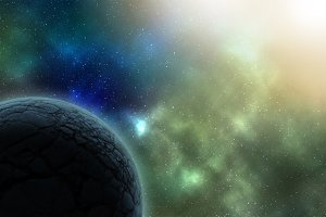 Abstract space background planet