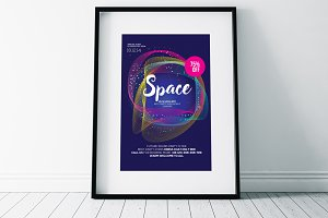 Space Elegant Psd Flyer Templates