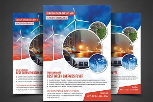 Green Energy Flyer Print Templates