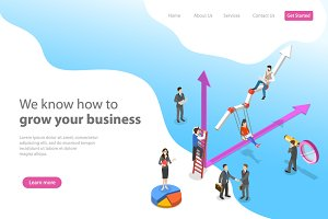 Landing page for business growth