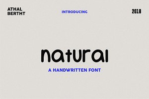 Natural | A handwritten font
