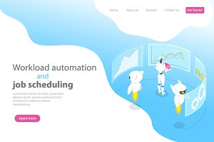 Landing page for workload automation