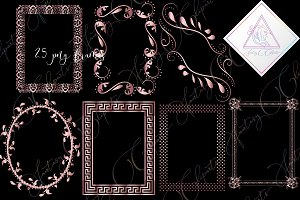 Rose Gold Frames Clipart
