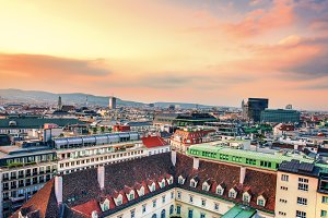 Panorama view vienna
