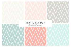 Ikat Chevron Patterns & Papers