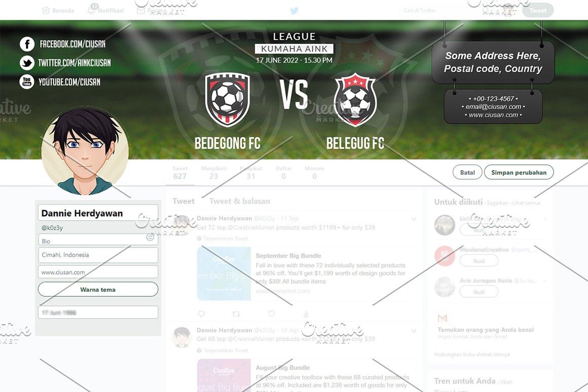 Soccer Match - Twitter Header
