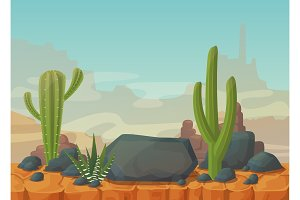 Desert scenery with mountains