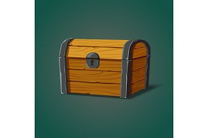 Isolated dower chest