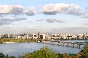Kyiv left-bank of the Dnipro river.