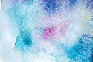 Bright watercolor blue pink purple