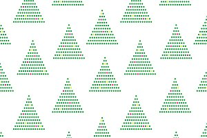 Simple Geo christmas trees pattern