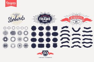 50 Vintage Logo Creation Bundle