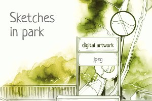sketches in park