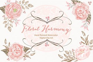 Vector Floral Harmony/Lace clipart