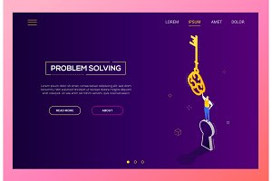 Problem solving - isometric banner