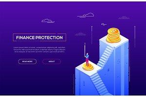 Finance protection - website header