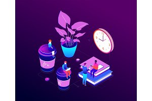 Coffee break - illustration
