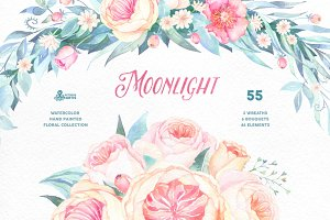 Moonlight. Floral collection