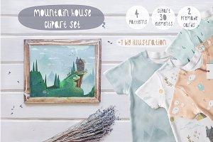 Mountain house - clipart set