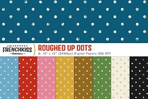 Roughed Up Dots Digital Papers