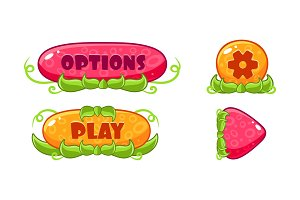 Cute glossy jelly buttons set, user