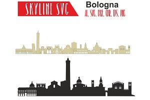 Bologna Svg Italy Vector Skyline