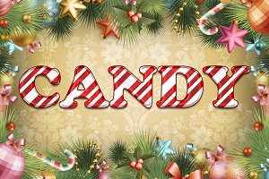 Candy Cane Text for Photoshop