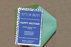 It's A Boy! Editable invitation