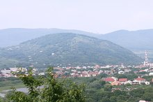Panorama of Mukachevo. Carpathians