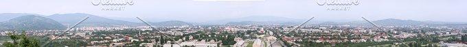 Panorama of Mukachevo. Carpathians - Architecture