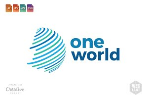 One World Logo Template