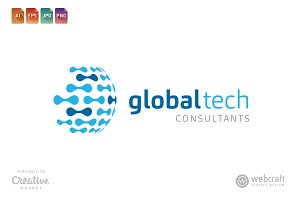 Global Tech Logo Template 2