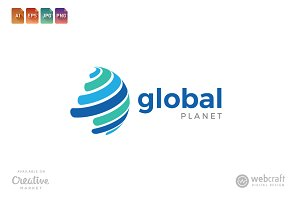 Global Planet Logo Template