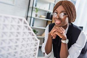smiling african american adult femal