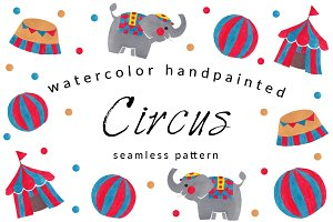 The Circus Watercolor Pattern Pack