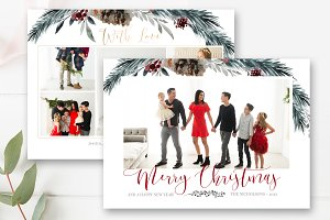 Christmas Photo Card Template