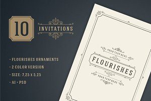 10 Vintage invitations volume 9